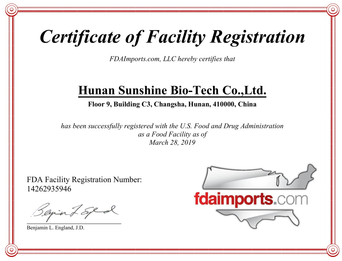 FDA, Registration, Facility