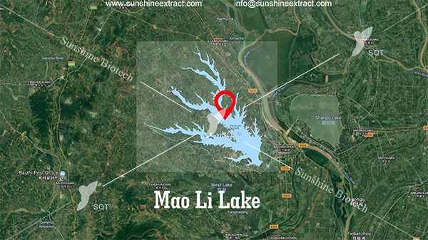 the location of maoli lake in map